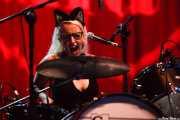 Amanda Spring, baterista de Sallie Ford, BIME festival, Barakaldo. 2015