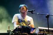 Allan Wilson, teclista y percusionista de !!! (Chk Chk Chk), BIME festival, Barakaldo. 2015