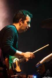 Rafael Cohen, guitarrista y percusionista de !!! (Chk Chk Chk), BIME festival, Barakaldo. 2015
