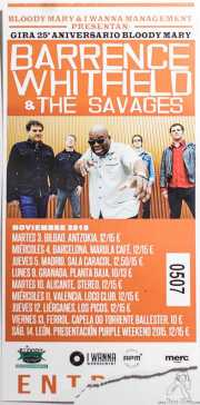 Entrada de Barrence Whitfield & The Savages, Kafe Antzokia, Bilbao. 2015