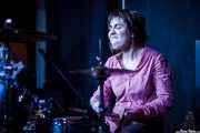 Ilargi Agirre, baterista de Screamin' George & The Hustlers, Kafe Antzokia, Bilbao. 2015