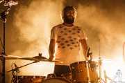 Roberto Villar, baterista de Yellow Big Machine, Kafe Antzokia, Bilbao. 2015