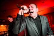 Steve Crittall -guitarra- y Peter Coyne -voz- de The Godfathers (Satélite T, Bilbao)