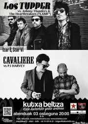 Cartel de Los Tupper y Cavaliere (Kafe Antzokia, Bilbao)