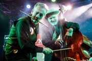 Rob Tyler -batería- y Wayne Hopkins -contrabajo- de Sister Cookie (Purple Weekend Festival, León)
