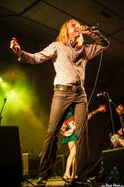 Mike Stax -voz- y Chris Marsteller -guitarra- de The Loons (Purple Weekend Festival, León)