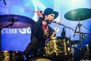 Sam Malakiam, baterista de Kurt Baker Combo (Purple Weekend Festival, León, 2015)