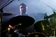 Alberto Chamorro, baterista de Los Brazos (WOP Festival 2015, Bilbao, 2015)