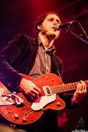 Alfredo Niharra -voz y guitarra- y Juan Uribe -bajo y voz- de The Fakeband (Santana 27, Bilbao, 2015)