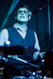 David Abadía, baterista de Los Negativos (Kafe Antzokia, Bilbao, 2016)