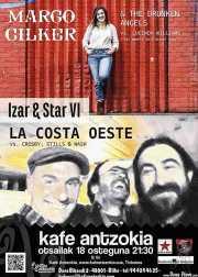 Cartel de Margo Cilker & The Drunken Angels y La Costa Oeste (Kafe Antzokia, Bilbao, )