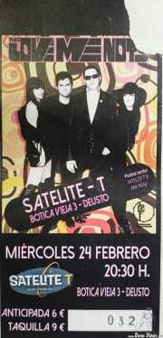Entrada de The Love Me Nots (Satélite T, Bilbao, 2016)