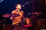 Natxo Beltrán, baterista sustituto de Sonic Trash (Kafe Antzokia, Bilbao, 2016)