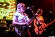 Lois Tozer -batería-, Laura Anderson -voz y guitarra- y Letty Gallagher -bajo- de Thee Jezebels (Hika Ateneo, Bilbao, 2016)
