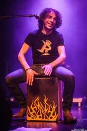 "Juan Francisco García de Maya ""Wichy"", baterista de Los Rebeldes (Torrezabal Kultur Etxea, Galdakao, 2016)"
