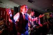 """Simon Bowley -batería-, Barrie Masters -voz-, Ian """"Dipster"""" Dean -bajo- y Chris Taylor -guitarra- de Eddie and the Hot Rods (Satélite T, Bilbao, 2016)"""