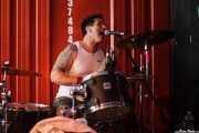 Simon Bowley, baterista de Eddie and the Hot Rods (Satélite T, Bilbao, 2016)