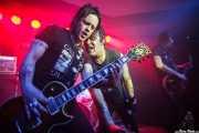 Star Mafia Boy -guitarra-, Billy Hopeless -voz- y Rich Jones -guitarra- de The Black Halos (Kafe Antzokia, Bilbao, 2016)