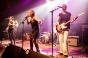 Marga Alday -bajo-, Nagore Martínez Jauregi -guitarra-, Dani -batería-, Inge Isasi -voz- y Leire Heras-Gröh -guitarra- de Moonshakers (Kafe Antzokia, Bilbao, 2016)
