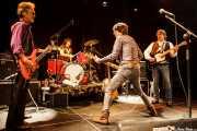 George Alexander -bajo-, Victor Peñalosa -batería-, Cyril Jordan -guitarra y voz- y Chris Wilson -guitarra y voz- de The Flamin' Groovies (Intxaurrondo K.E., Donostia / San Sebastián, 2016)