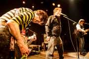 Cyril Jordan -guitarra y voz-, Roy Loney -voz y guitarra- y Chris Wilson -guitarra y voz- de Flamin' Groovies (Intxaurrondo K.E., Donostia / San Sebastián, 2016)