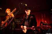 Marcello Salis -guitarra-, Oliver Pilsner -bajo- y Rob Louwers -batería- de The Morlocks (Satélite T, Bilbao, 2016)