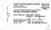 Entrada de Wilko Johnson Band (Teatro Victoria Eugenia Antzokia, Donostia / San Sebastián, )