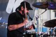 Daniel Francisco, baterista de Grand Matter (Plaza Solobarria, Basauri, 2016)
