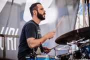 Claudio F. Paván, baterista de Larry Bird (Plaza Solobarria, Basauri, 2016)