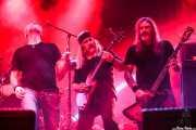 Kyle Thomas -voz-, Bruce Franklin -guitarra- y Rob Hultz -bajo- de Trouble (Santana 27, Bilbao, 2016)