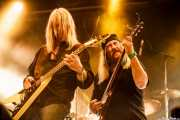 Rick Wartell -guitarra- y Bruce Franklin -guitarra- de Trouble (Santana 27, Bilbao, 2016)
