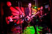 Iván Flores -bajo-, Javi Diesel -voz y guitarra-, Juan Marco -batería- y Andrea Bonfiglio -guitarra- de The Diesel Dogs (Phantom Club, Madrid, 2016)