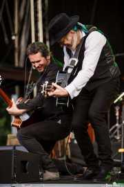 Olivier Durand -guitarra- y Elliott Murphy -voz, guitarra y armónica- de Elliott Murphy & Band (Music Legends Fest, Sondika, 2016)