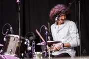 Chris St. Hilaire, baterista y cantante de The London Souls (Azkena Rock Festival, Vitoria-Gasteiz, 2016)