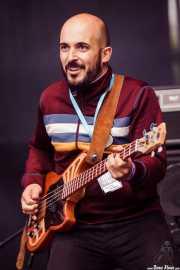 Alfonso Ferrer, bajista de Julián Maeso (Azkena Rock Festival, Vitoria-Gasteiz, 2016)