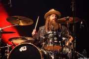 Brit Turner, baterista de Blackberry Smoke (Azkena Rock Festival, Vitoria-Gasteiz, 2016)