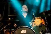 Rob Coyne, baterista de The Scientists (Azkena Rock Festival, Vitoria-Gasteiz, 2016)