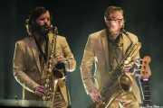 Matt Bauder y Colin Stetson, saxofonistas de Arcade Fire (Bilbao BBK Live, Bilbao, 2016)