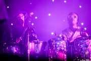 Diol Edmond y Tiwill Duprate, percusionistas de Arcade Fire (Bilbao BBK Live, Bilbao, 2016)