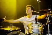 Lander Zalakain, baterista de Belako (Bilbao BBK Live, Bilbao, 2016)