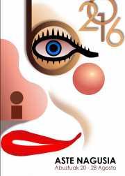 Cartel de la Bilboko Aste Nagusia 2016 (por Juan Girbés)