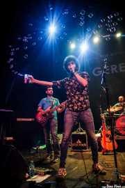 David Rodríguez -bajo-, Alex Barrio -voz y guitarra- y Alfredo Caro -batería- de Gerente (Bilborock, Bilbao, 2016)