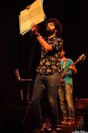 David Rodríguez -bajo- y Alex Barrio -voz y guitarra- de Gerente (Bilborock, Bilbao, 2016)