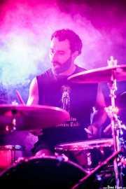 Iban Goikoetxea, baterista de Naizroxa (Aste Nagusia - Txosna Komantxe, Bilbao, 2016)