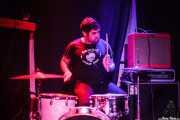 Carlos Mendes, baterista de The Dirty Coal Train (Kremlin Aretoa, Bilbao, 2016)