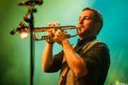 Jon Ander Burgos, trompetista de Ghost Number & His Tipsy Gypsies (Kafe Antzokia, Bilbao, 2016)
