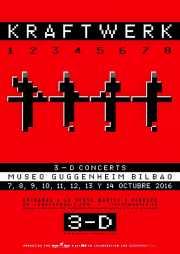 Cartel de Kraftwerk (Museo Guggenheim, Bilbao, )