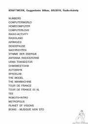 Setlist de Kraftwerk (Museo Guggenheim, Bilbao, )