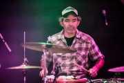 Jordi Ollé, baterista de Th' Booty Hunters (Santana 27, Bilbao, 2016)