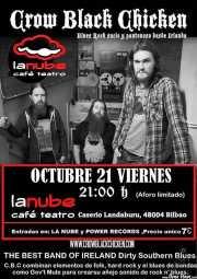 Cartel de Crow Black Chicken (La Nube Café Teatro, Bilbao, )